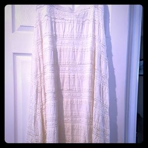 Chico's off white lace maxi skirt